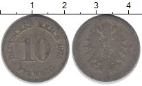 Изображение Барахолка Германия 10 пфеннигов 1875 Медно-никель VF-