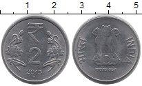 Изображение Барахолка Индия 2 рупии 2013 Сталь XF