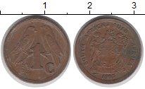 Изображение Дешевые монеты ЮАР 1 сент 1993 Медь VF-