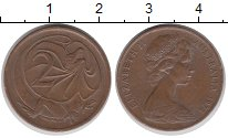 Изображение Дешевые монеты Австралия 2 цента 1974 Медь XF-