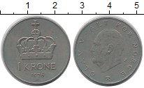 Изображение Дешевые монеты Норвегия 1 крона 1976 Медно-никель VF+