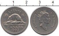 Изображение Дешевые монеты Канада 5 центов 1993 Медно-никель XF