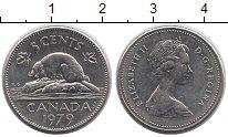 Изображение Дешевые монеты Канада 5 центов 1979 Медно-никель UNS-