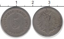 Изображение Дешевые монеты Германия 5 пфеннигов 1876 Медно-никель VF-