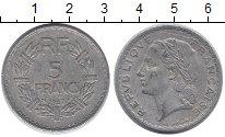 Изображение Дешевые монеты Франция 5 франков 1947 Алюминий XF-