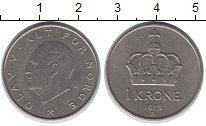 Изображение Дешевые монеты Норвегия 1 крона 1978 Медно-никель XF-