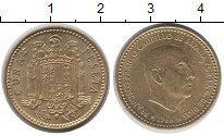 Изображение Дешевые монеты Испания 1 песета 1966 Латунь XF