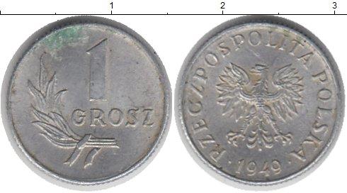 Монета 1 грош польша, 1949 г филобутонистика цены