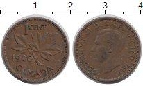 Изображение Дешевые монеты Канада 1 цент 1940 Медь XF-