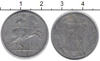 Изображение Дешевые монеты Испания 10 сентим 1945 Алюминий XF