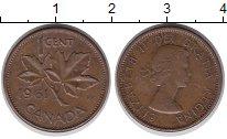 Изображение Дешевые монеты Канада 1 цент 1961 Медь