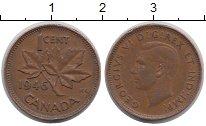 Изображение Дешевые монеты Канада 1 цент 1946 Медь XF
