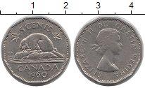Изображение Дешевые монеты Канада 5 центов 1960 Медно-никель XF