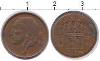 Изображение Дешевые монеты Бельгия 20 сентим 1954 Латунь XF-