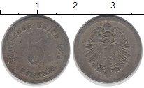 Изображение Дешевые монеты Германия 5 пфеннигов 1875 Медно-никель VF