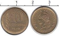 Изображение Барахолка Аргентина 10 сентаво 1970 Латунь XF-