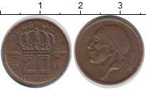 Изображение Дешевые монеты Бельгия 20 сентим 1958 Медь XF