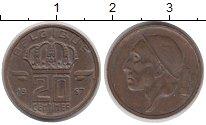 Изображение Дешевые монеты Бельгия 20 сентим 1957 Медь XF