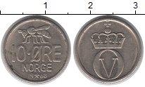 Изображение Дешевые монеты Норвегия 10 эре 1968 Медно-никель XF