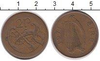 Изображение Дешевые монеты Ирландия 2 пенса 1971 Медь XF