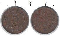 Изображение Дешевые монеты Германия 5 пфеннигов 1918 Цинк XF