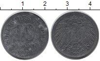 Изображение Дешевые монеты Веймарская республика 10 пфеннигов 1920 Цинк VF