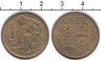 Изображение Барахолка Чехословакия 1 крона 1991 Медно-никель XF