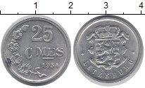 Изображение Дешевые монеты Люксембург 25 сентим 1954 Алюминий XF