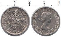 Изображение Барахолка Великобритания 6 пенсов 1967 Медно-никель XF-