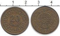 Изображение Дешевые монеты Тунис 20 миллим 1960 Медно-никель XF