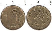 Изображение Дешевые монеты Финляндия 10 пенни 1981 Латунь XF