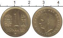Изображение Дешевые монеты Испания 1 песета 1980 Латунь UNC