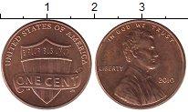 Изображение Барахолка США 1 цент 2010 Медь UNC
