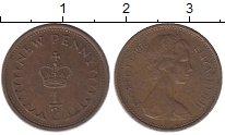 Изображение Барахолка Великобритания 1/2 пенни 1975 Медь XF-