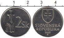 Изображение Барахолка Словения 2 толара 2003 Медно-никель AUNC