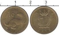 Изображение Дешевые монеты Мальта 1 цент 1995 Медно-никель XF