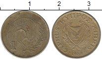 Изображение Дешевые монеты Кипр 1 мил 1988 Медно-никель Fine
