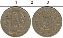 Изображение Дешевые монеты Кипр 2 цента 1991 Медно-никель VF