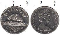 Изображение Дешевые монеты Канада 5 центов 1966 Медно-никель XF