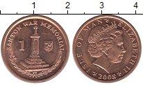 Изображение Барахолка Остров Мэн 1 пенни 2008 Медь XF
