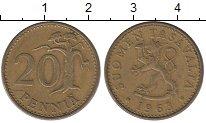 Изображение Дешевые монеты Финляндия 20 пенсов 1963 Латунь XF-