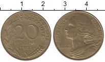 Изображение Дешевые монеты Франция 20 сентим 1985 Латунь XF