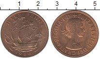 Изображение Барахолка Великобритания 1/2 пенса 1966 Медь XF