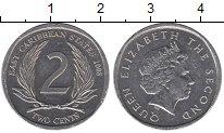Изображение Дешевые монеты Карибы 2 цента 2008 Алюминий XF