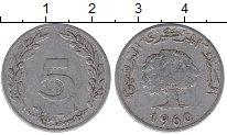 Изображение Дешевые монеты Тунис 5 миллим 1960 Алюминий VF