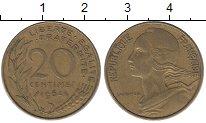 Изображение Дешевые монеты Франция 20 сентим 1964 Латунь XF-