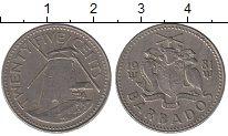 Изображение Барахолка Барбадос 25 центов 1981 Медно-никель XF