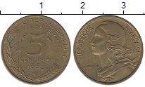 Изображение Дешевые монеты Франция 5 сентим 1968 Латунь XF