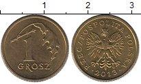Изображение Дешевые монеты Польша 1 грош 2013 Латунь XF