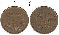 Изображение Дешевые монеты Польша 5 грош 2007 Латунь VF